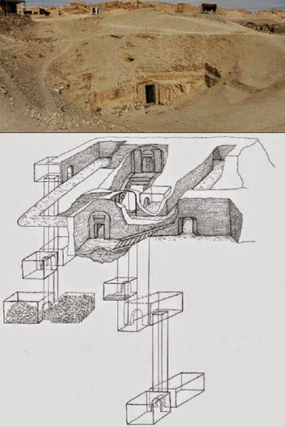 Diagram of Osiris' Shaft