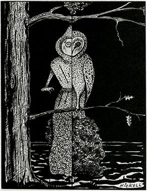 Nickel's rendition of the Owl/Flatwoods Monster