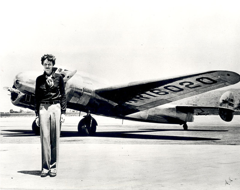 Earhart with her Lockheed Electra.jpg