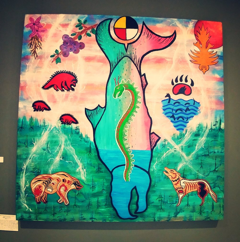Indigenous artist interpretation of the Okanagan People's Legendary Ogopogo