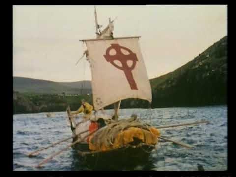 Tim Severin's Boat, En Route to Retrace St. Brendan's Voyage
