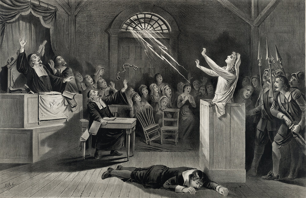 Salem Witch Trials Depiction ; It would seem that the 1700's were characterized by paranoia in multiple forms, whether of witches or wendigos each culture had its own demons.