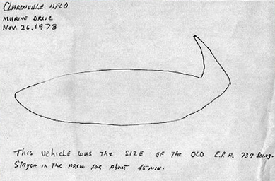 Blackwood's Drawing of the UFO
