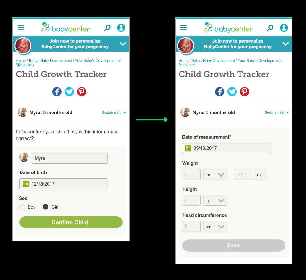 Babycenter Growth Tracker Yingying Product Designer