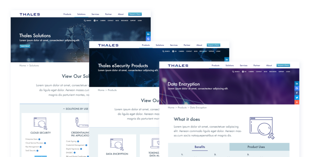 Thales eSecurity Products and Solutions Pages