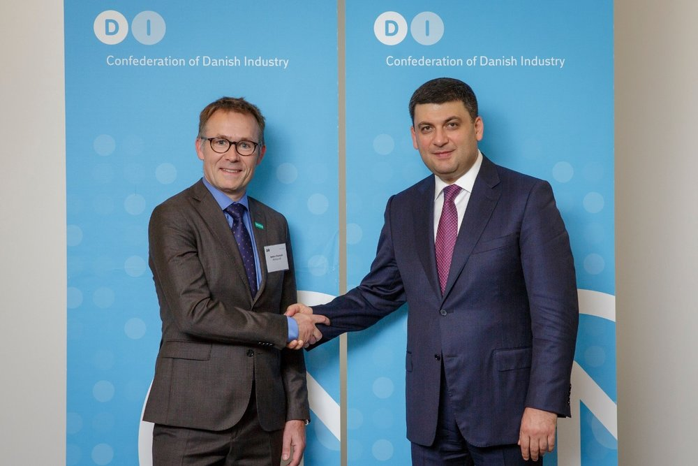 PHOTO: HANS SØNDERGAARD    Last week our CEO, Anders Thorsted, participated in a roundtable meeting with Ukrainian Prime Minister,   Volodymyr Groysman.