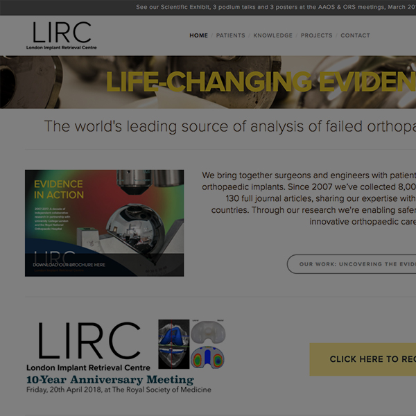 London Implant Retrieval Centre - www.lirc.co.uk