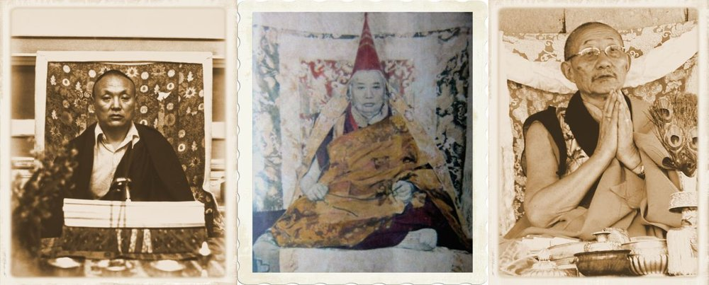 The two heart-sons of the 8th Kyabgon Drukpa Choegon Rinpoche - The 8th Kyabje Khamtrul Rinpoche and the 8th Kyabje Adeu Rinpoche