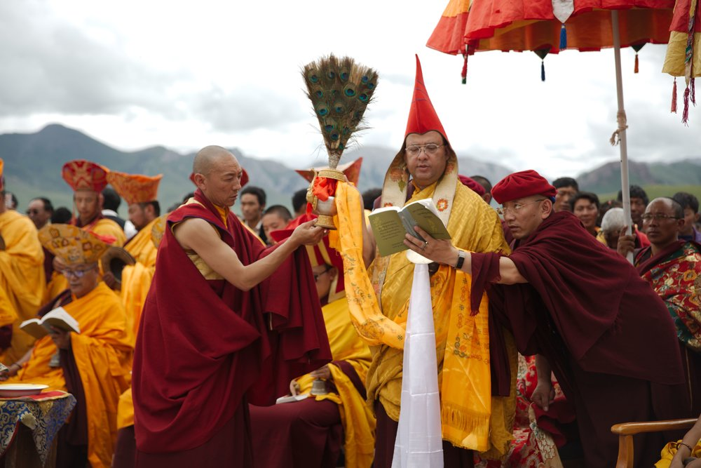 Choegon Rinpoche perform various rituals and prayers during the Grand Drukpa Kargyu Empowerment and Transmission.