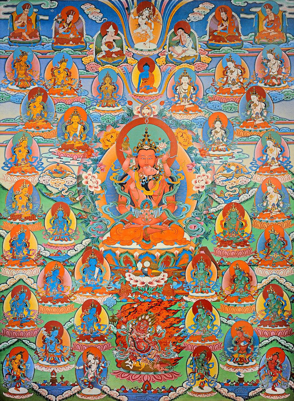 The Buddha Amitayus thangka