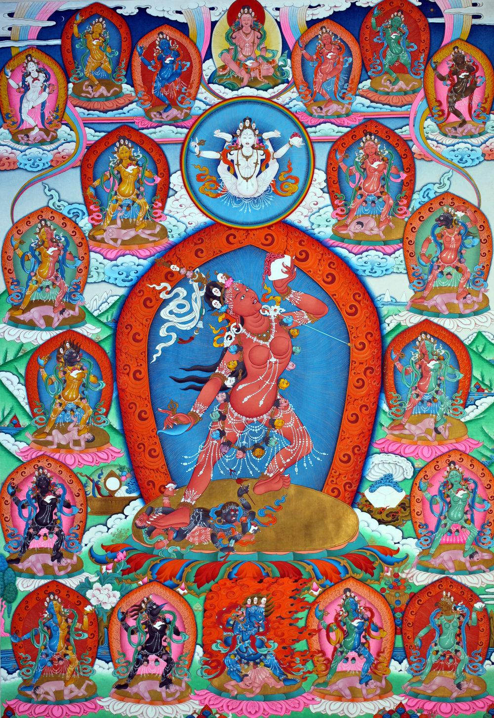 Dechen Choekhor's Vajrayogini thangka