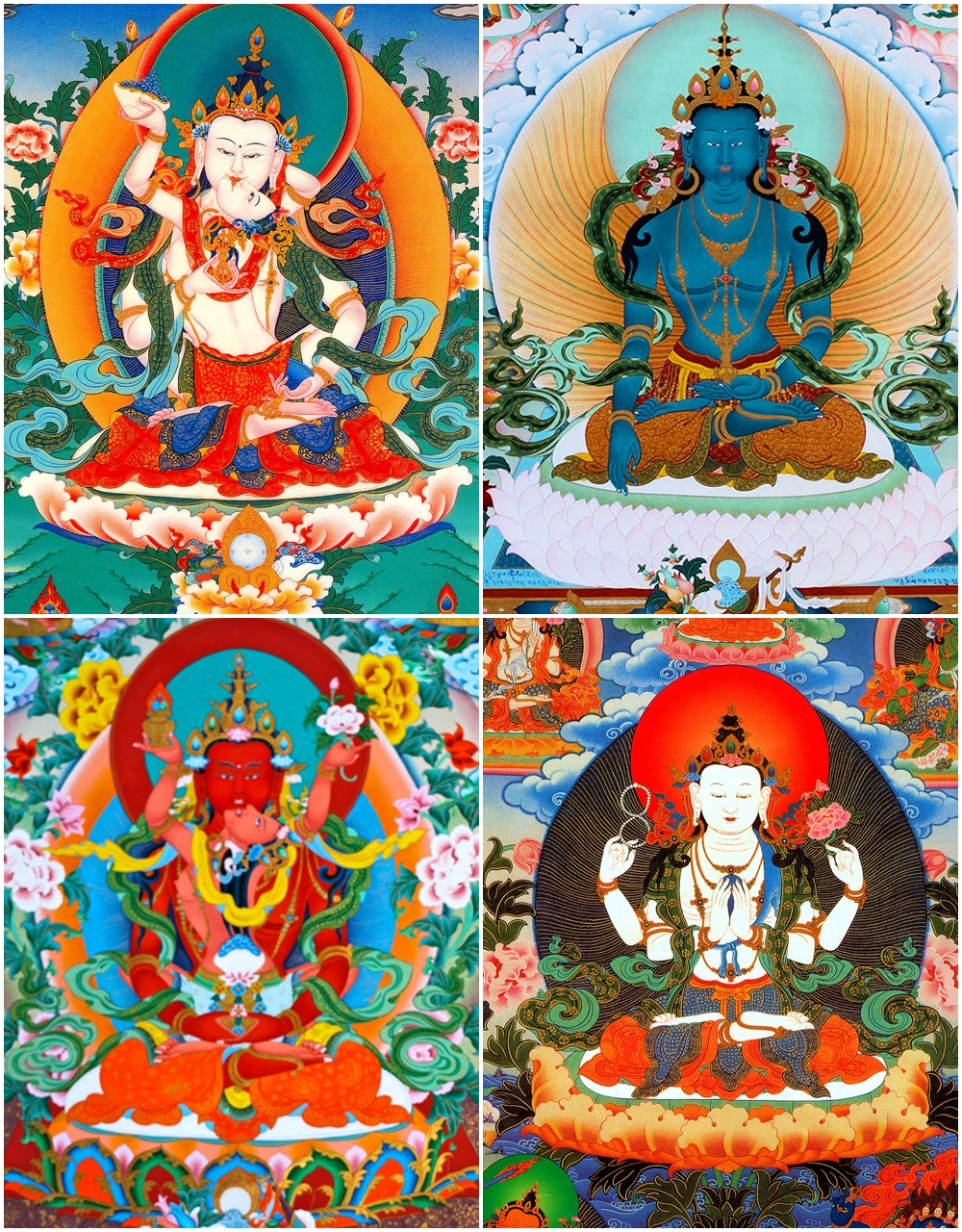 The Four Essential Deities of Drukpa Kargyu (Tib: དཔལ་འབྲུག་པའི་འཕྲལ་དགོས་ཆོས་བཞི་ནི། )