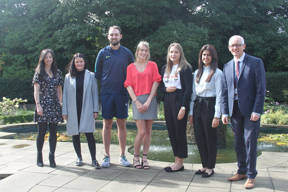 Our 2018 ITTs and our Head of Teaching School, Mr Hanson (far right).