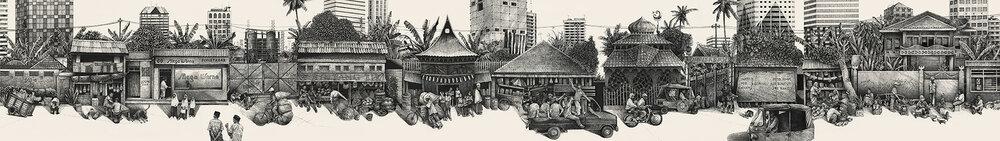 Jakarta street drawing