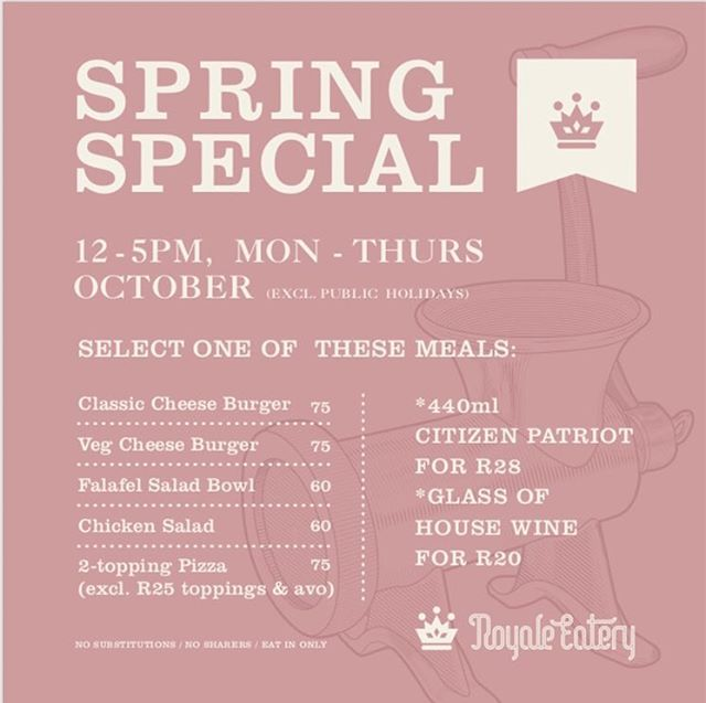 Our Spring Lunch Special has started. Same portion sizes, reduced prices. Mon-Thurs, 12-5pm. 😎