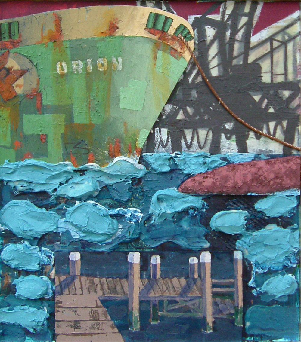 orion richting stad; 1.70 x 1.50; mixed media; hagens ,2005,collectie maritiem museum rotterdam.jpg