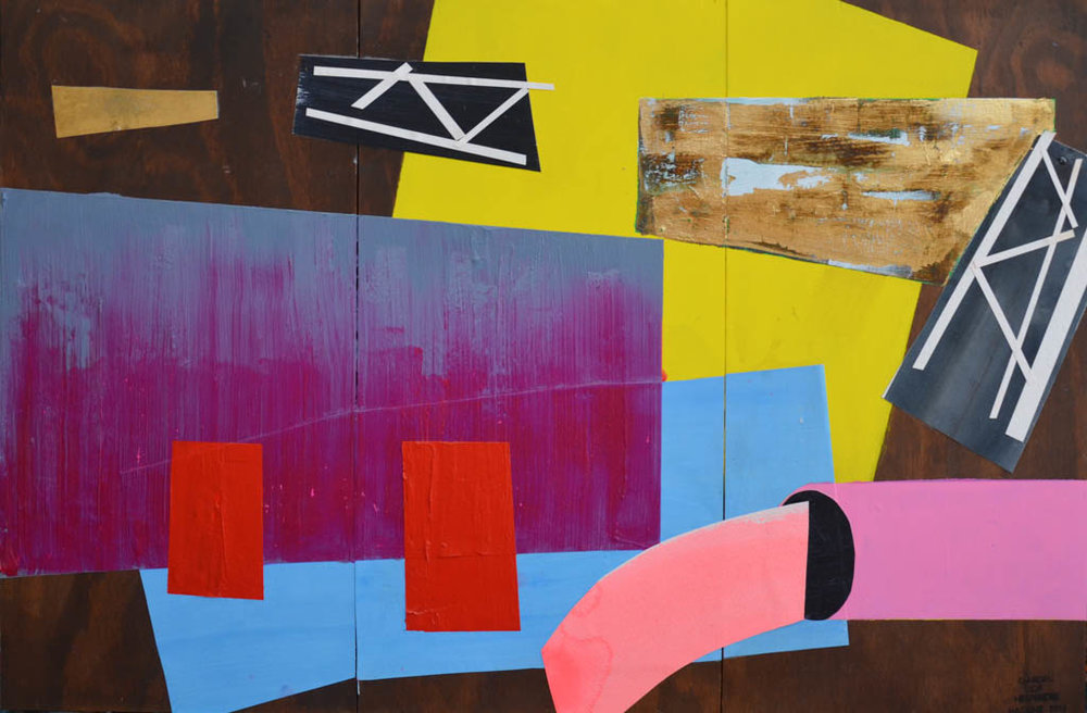 Garden of Hesperides #27 | 90 x 135 cm | Paper, acrylic paint, gold leaf on Panel | 2016 | Sasja Hagens | JPG.jpg