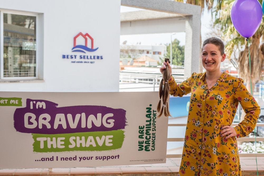 Jackie Lancaster Brave the Shave Social Media Res Photo credit Vic McLeod - Phoenix Media Mallorca-8455.JPG