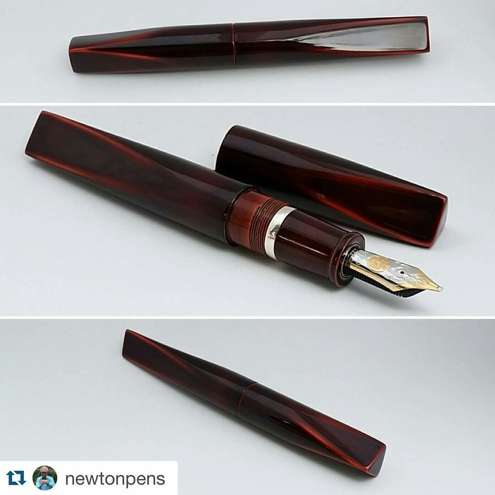 Newton Pens Prospector - Brown over orange
