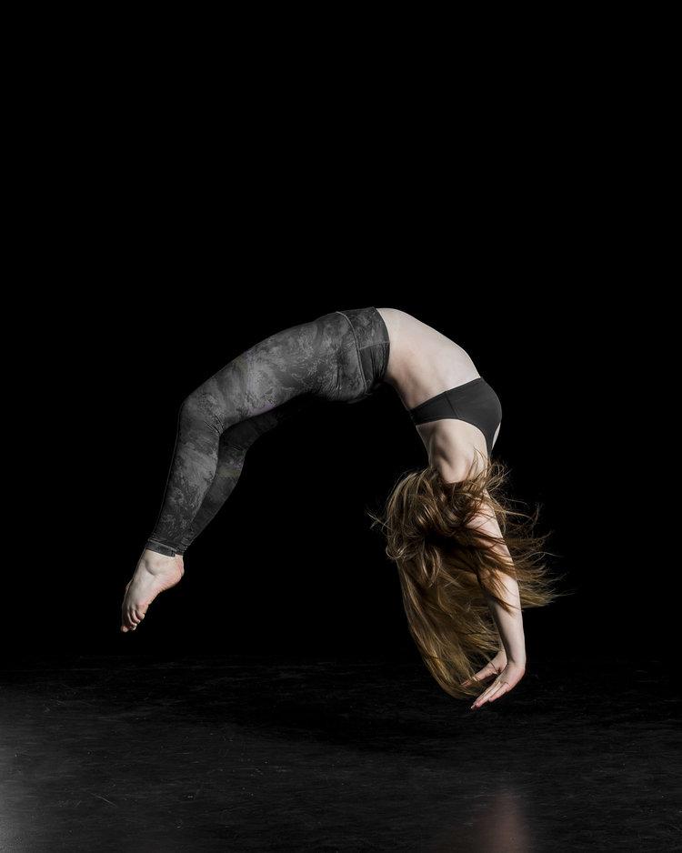 Celeste doing a back flip