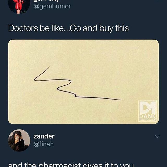 Trust us when we say deciphering doctoral handwriting is half of what we study at pharmacy school. #pharmacyschool #doctorhandwriting
