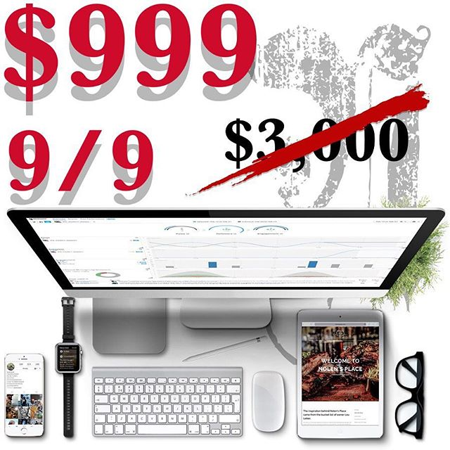 $999 till 9/9! Free Consultation, 5 page square space site, 3 hours photography + 6 free edits, Embeded social media within site (Facebook, Twitter, Instagram, YouTube), Additional social media accounts for an addition $99 each, 2 hours of graphic design ($50 per hour after) #leaguecity #houston #dickinson #friendswood #photography #videography #webdesign #webdesigner #nashville #smallbusiness #benocturnal