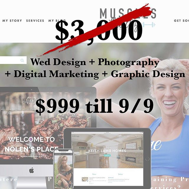 We are so excited to offer our first promo, so...we wanted to make it huge.  Get our $3,000 web design, social media, photography & graphic design package for $999.  This insane deal includes our Free Consultation, 5 page square space site, 3 hours photography + 6 free edits, Embeded social media within site (Facebook, Twitter, Instagram, YouTube), Additional social media accounts for an addition $99 each, 2 hours of graphic design ($50 per hour after.) #Leaguecity #Dickinson #Webdesign #Photography #smallbusiness #Houston #Sale #Benocturnal