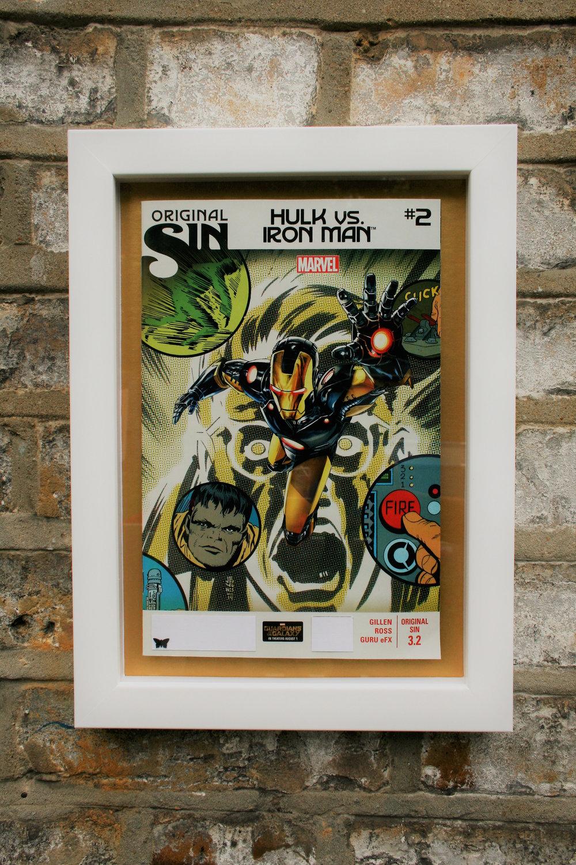 framed comic book art