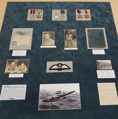 RAF medals and photos ready for framing.