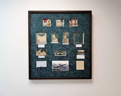 completed framed medals and photograph