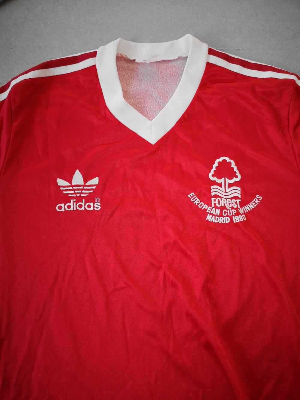 nottingham forest european cup winners football shirt