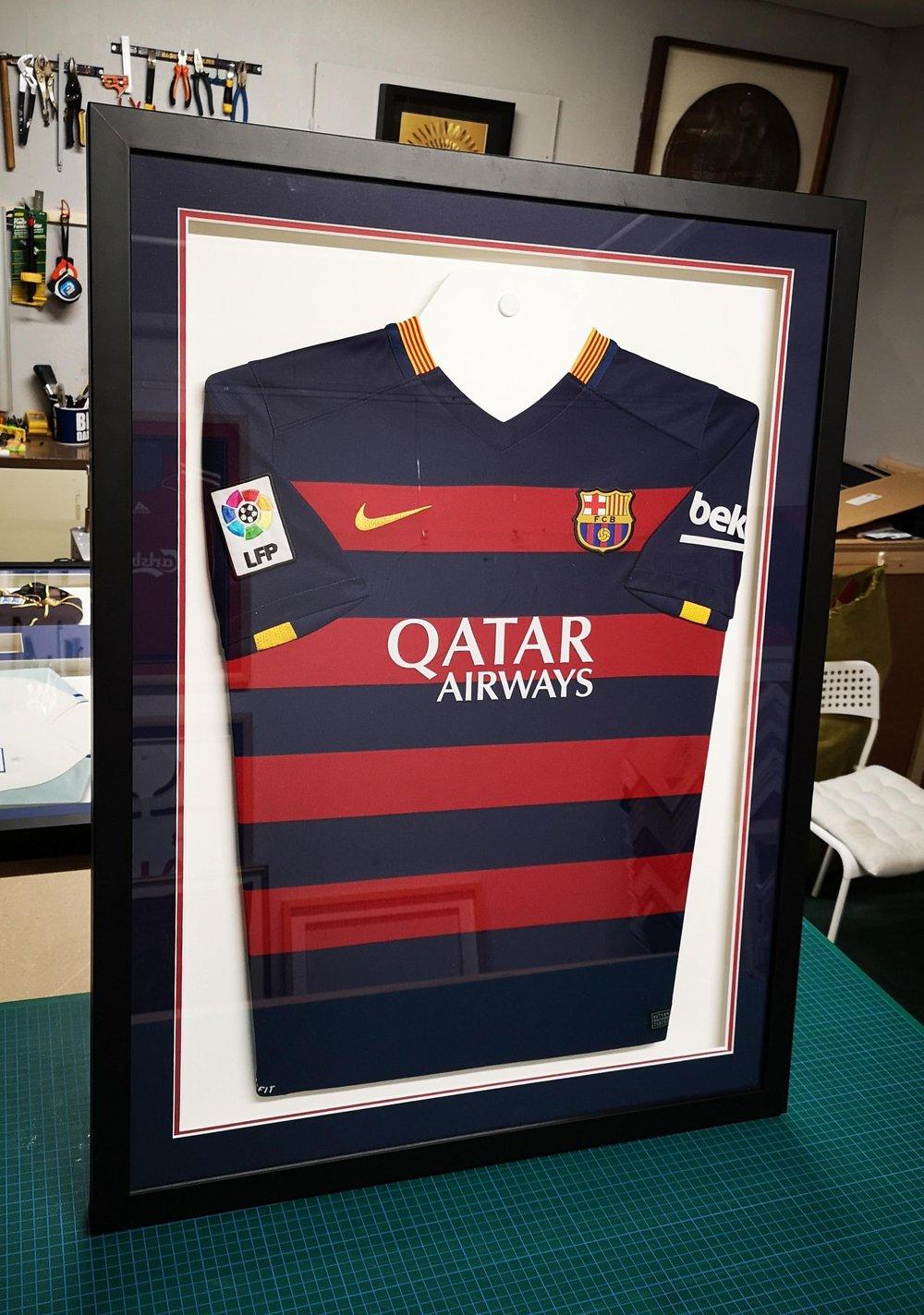 rubgy shirt framed qatar airways
