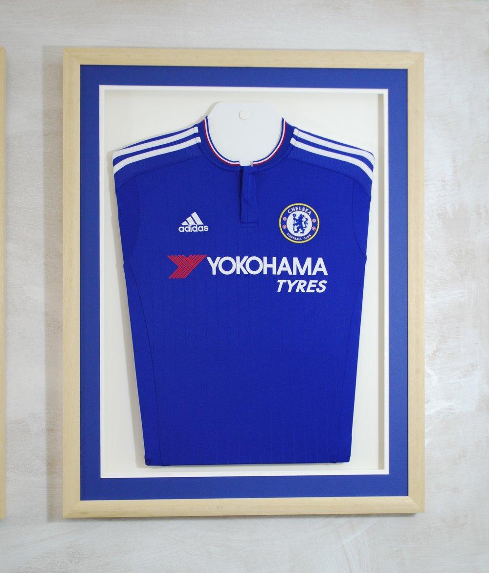 chelsea football shirt framed