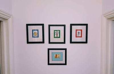 framed aceo cards comical
