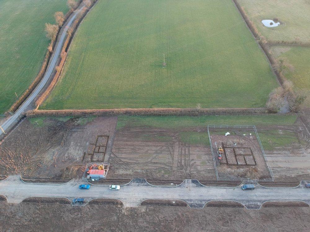 Plot 4 and 10 - footings dug