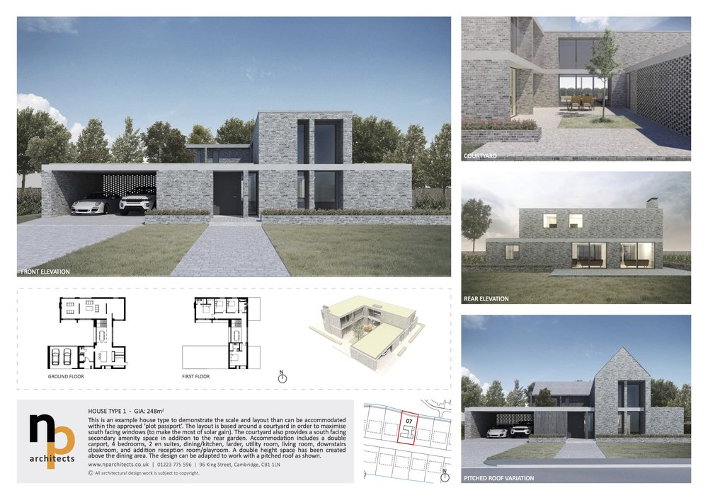 How about something like this….? Design courtesy of NP Architects, Cambridge