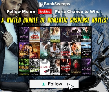 - ***GIVEAWAY***Do you follow me on BookBub yet?  Now's the perfect time! Follow me today and enter to win a Winter Bundle of Romantic Suspense, PLUS a Kindle Fire or Nook Tablet!Follow me on BookBub and enter the giveaway HERE