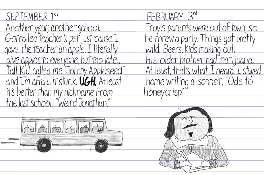 From the High School Diaries Of Johnny Appleseed -