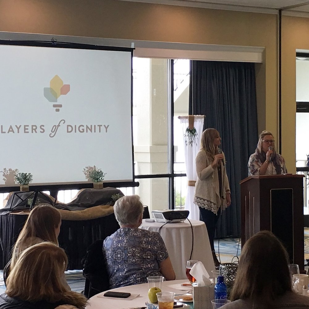 Hayley Harris and Lara Purnell sharing about Layers of Dignity…