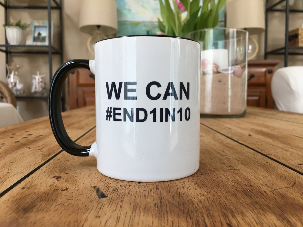 #END1in10 Campaign Mug