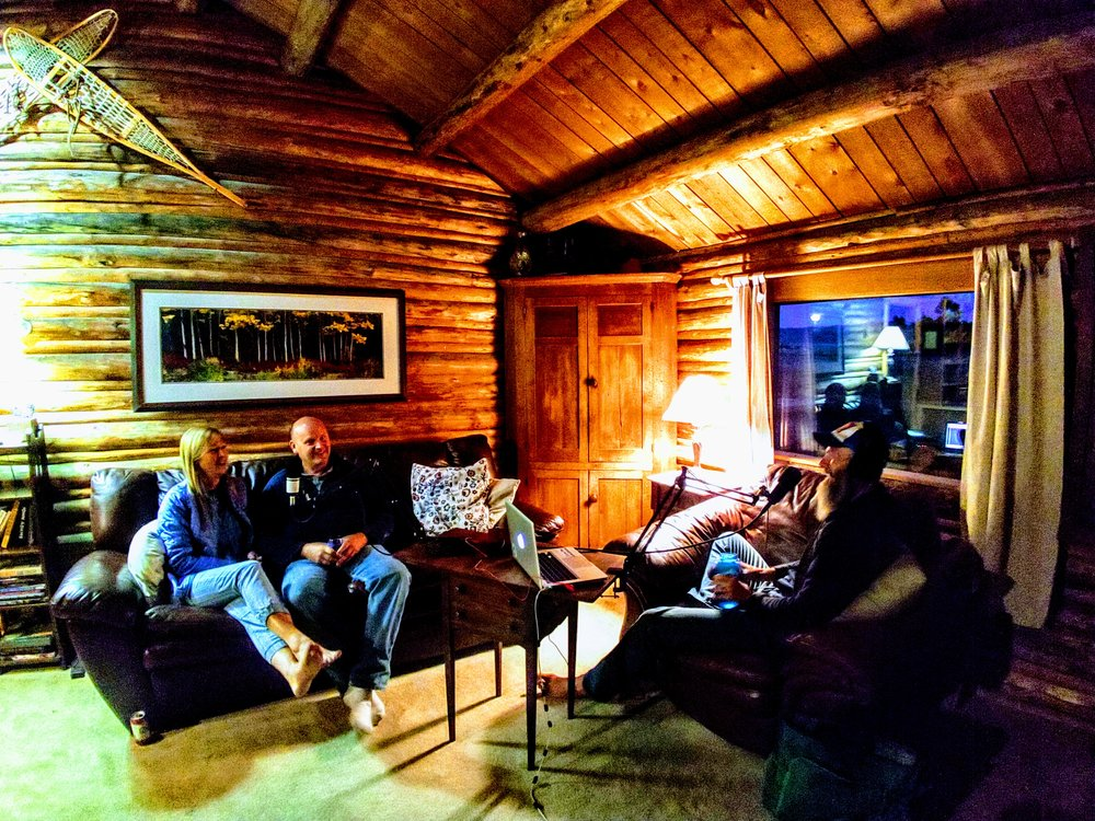 Kellie & Mike Wheeler, in the main cabin at the McReynolds place.