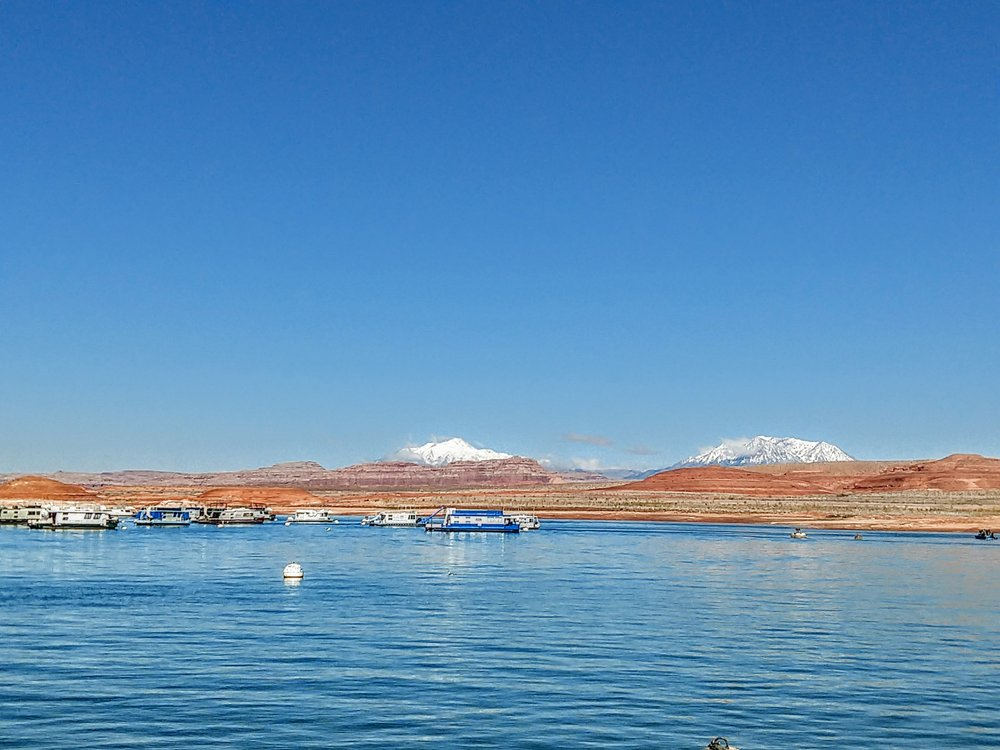 Our first ferry ride since Alaska - Lake Powell, Utah.