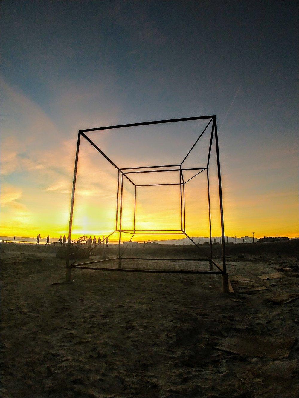 Behold the Tesseract, Bombay Beach, CA!