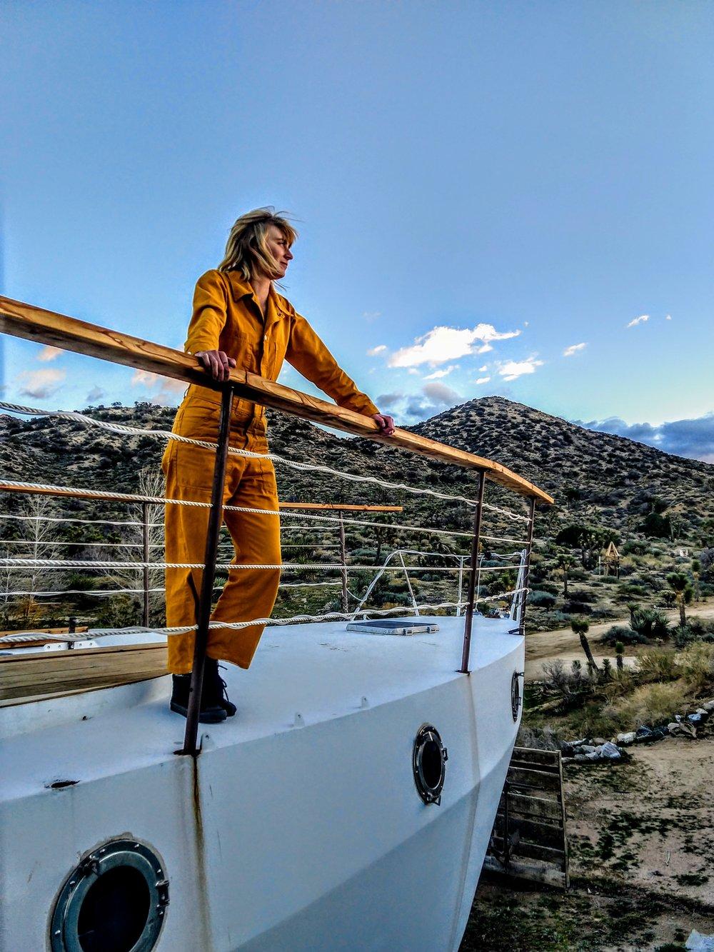 Laura Austin - Photographer, adventurer, desert sailor, and my jumpsuit hero!