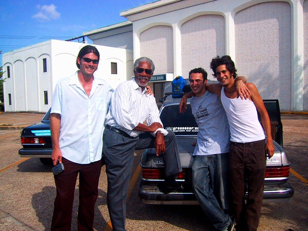Left to right, Couch, Morgan Freeman, Joey Carrey, JJ Beck. - All thanks to Alex Major