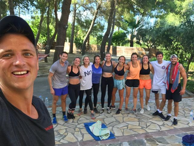 No rest for the wicked. Birthday burpees for @emilystreatfeildmoore #wedshed #twoharts2018 #zakynthos