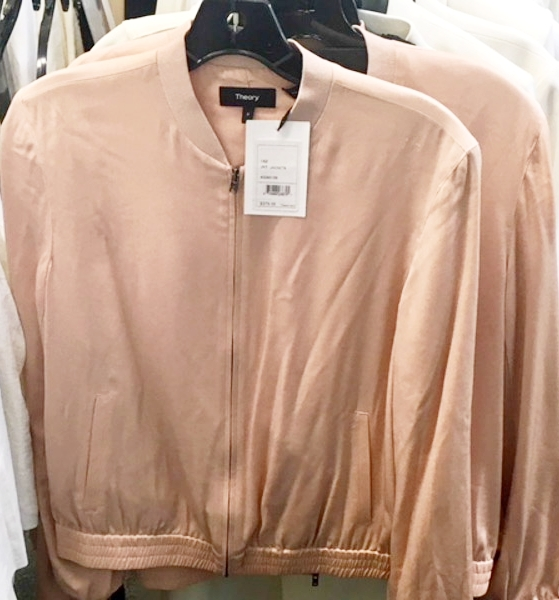 9b8fee046a Shop Theory Blush Bomber Jacket from Theory + Helmut Lang January 2018 Sample  Sale | Sample Sale 212