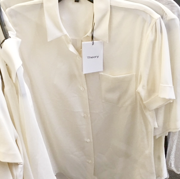 53170d9a40 Shop Theory Short Sleeve Cotton Button Down Blouse from Theory + Helmut Lang  January 2018 Sample Sale | Sample Sale 212