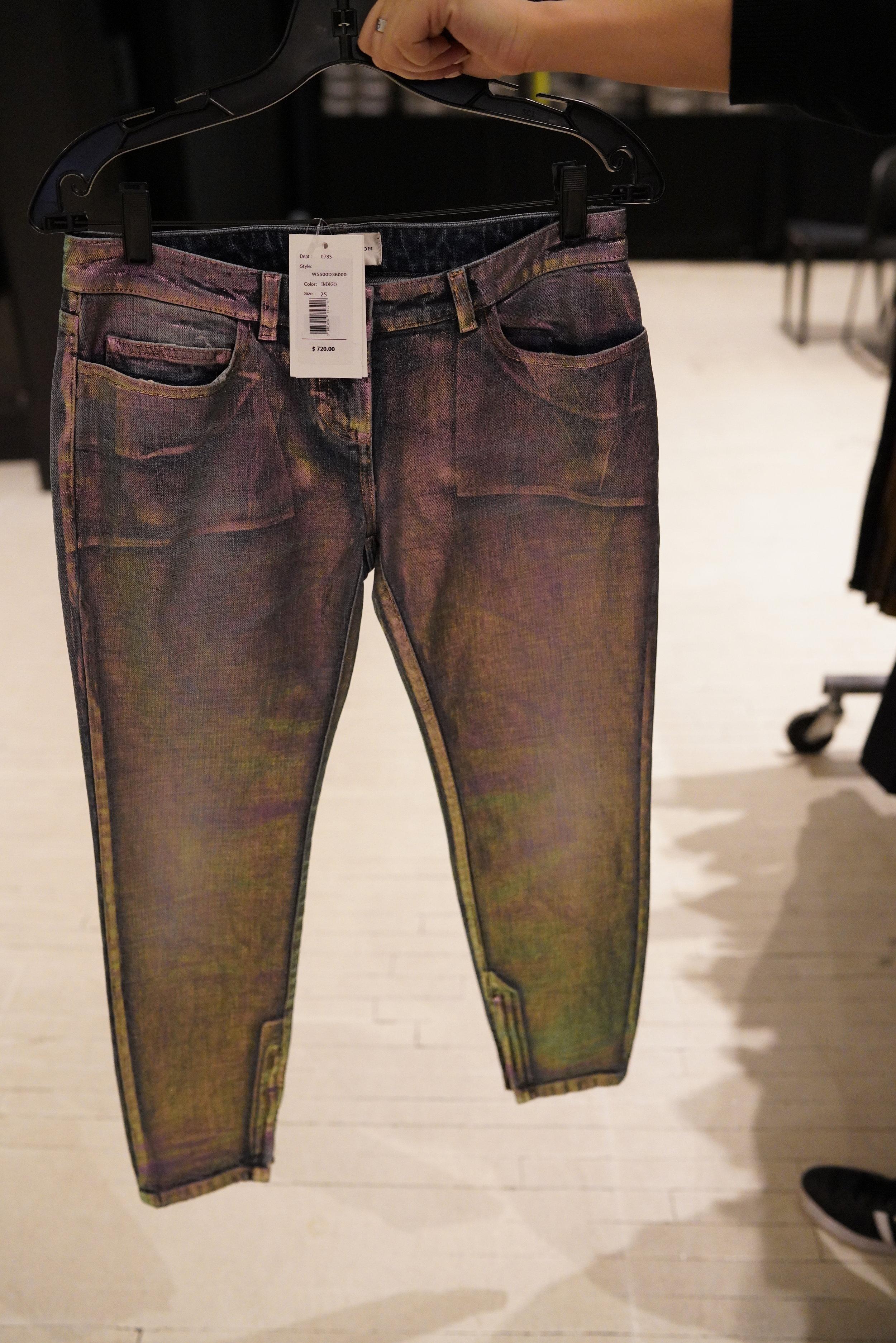 Shop Iridescent Faith Connexion Waxed Pants From Shop Faith