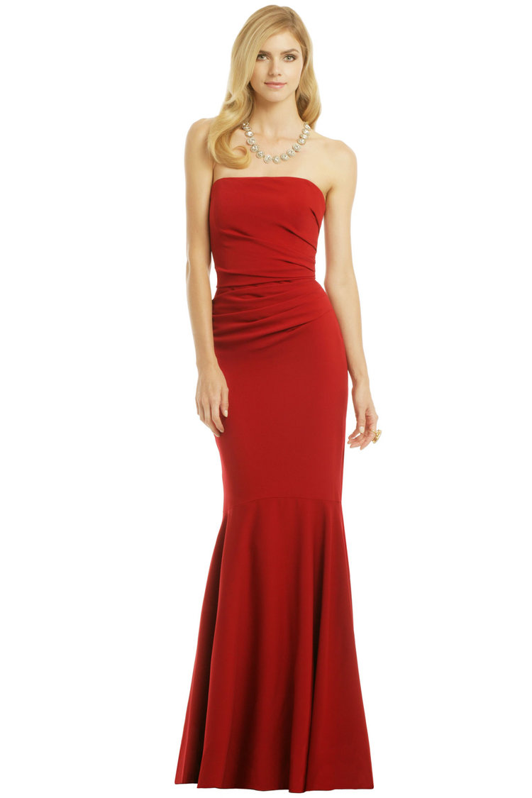 Shop Badgley Mischka Red Gown from Rent the Runway April 2018 Sample ...